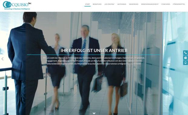 Screenshot Website acquisiotec.de