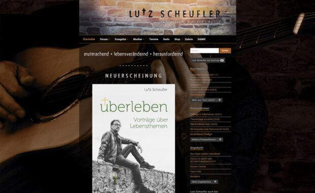Screenshot Website lutz-scheufler.de