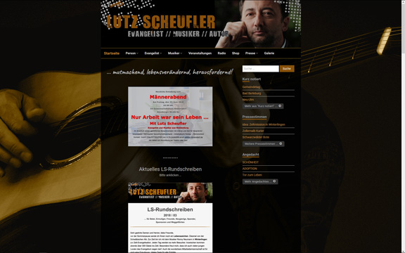 Website lutz-scheufler.de