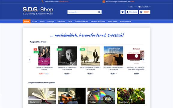 Onlineshop sdg-verlag.de