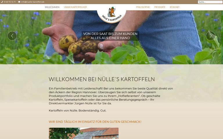 Screenshot Website nuelle-kartoffeln.de