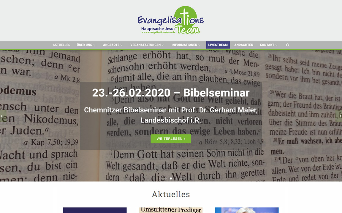 Website evangelisationsteam.de
