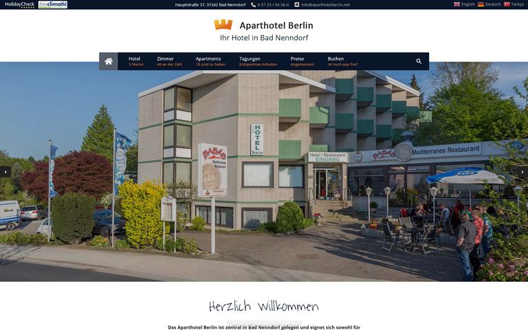 Screenshot Website aparthotelberlin.net